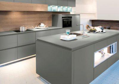 Küchenstudio Janthur-Farbtrends-Ton in Ton Grau