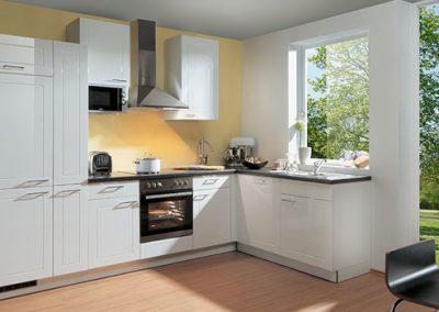 Küchenstudio Janthur-Farbtrends-moderne Weiße Eckküche
