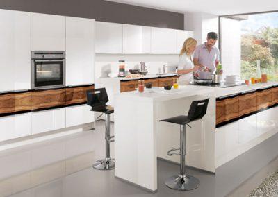 Küchenstudio Janthur-Farbtrends-moderne Weiße Küche