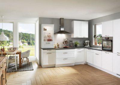 Küchenstudio Janthur-Farbtrends-Weiße Eckküche