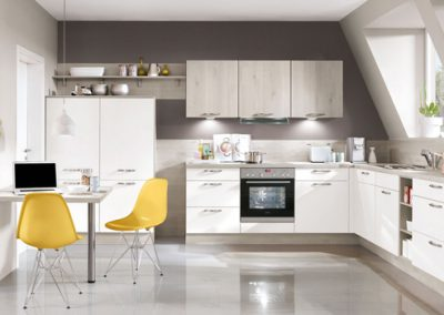 Küchenstudio Janthur-Farbtrends-stilvolle Weiße Küche