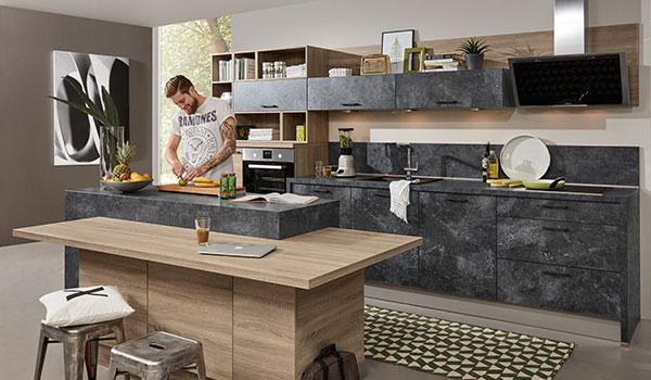 Beton Arbeitsplatten mit Loft Charme bei Küchenstudio Janthur