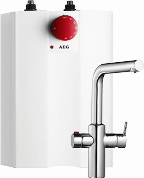 Das HOT 5 Heißwassersystem und die Armatur AEuS HOT werden zusammen geliefert.