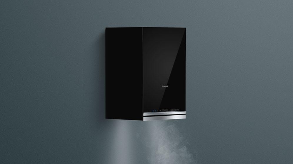 Design-Hauben von Siemens als Kubus