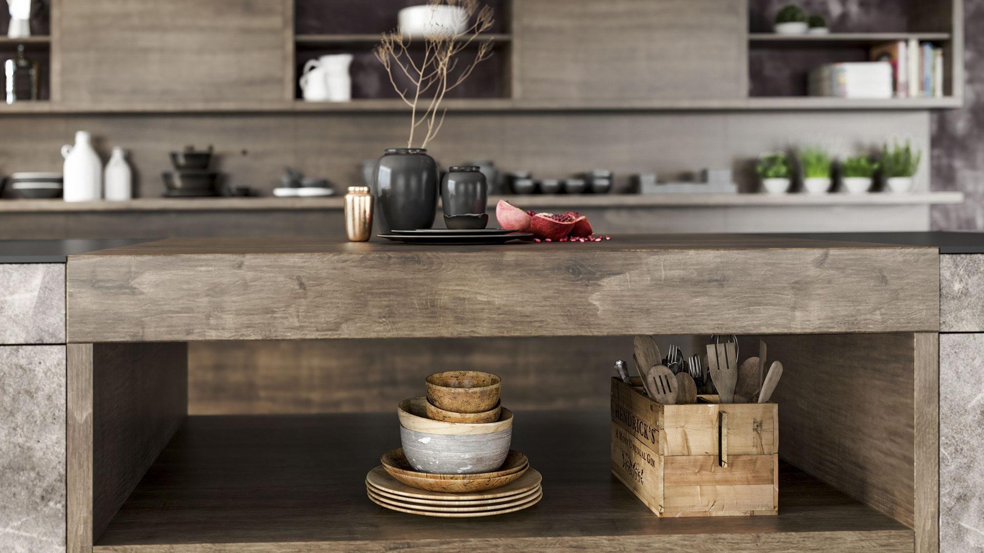Industrial Style - Durch die richtigen Farben, Möbel und Accessoires wird in Ihrer Küche ein schicker und moderner Loft-Charakter erzeugt.
