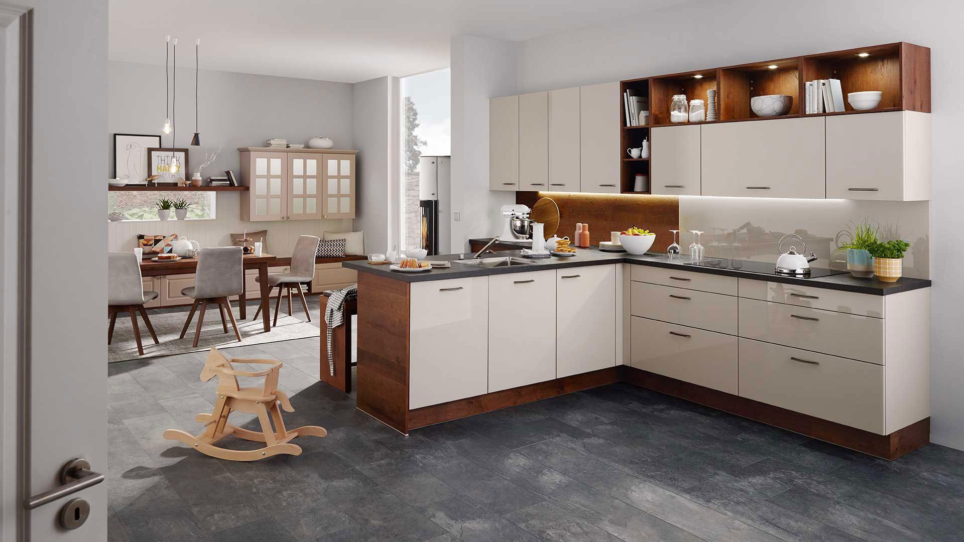 Moderner Küchenfußboden in Natursteinoptik - vielseitig kombinierbar